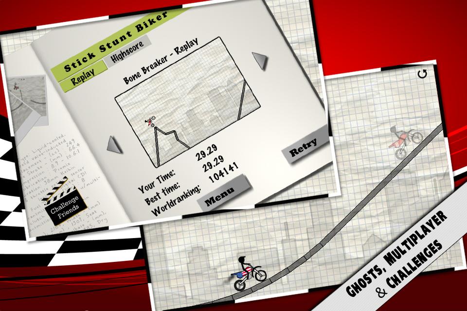 Stick Stunt Biker - Ignition! screenshot #2