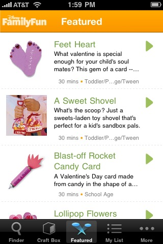 Craft Finder: Great Crafts from Disney FamilyFun screenshot #4