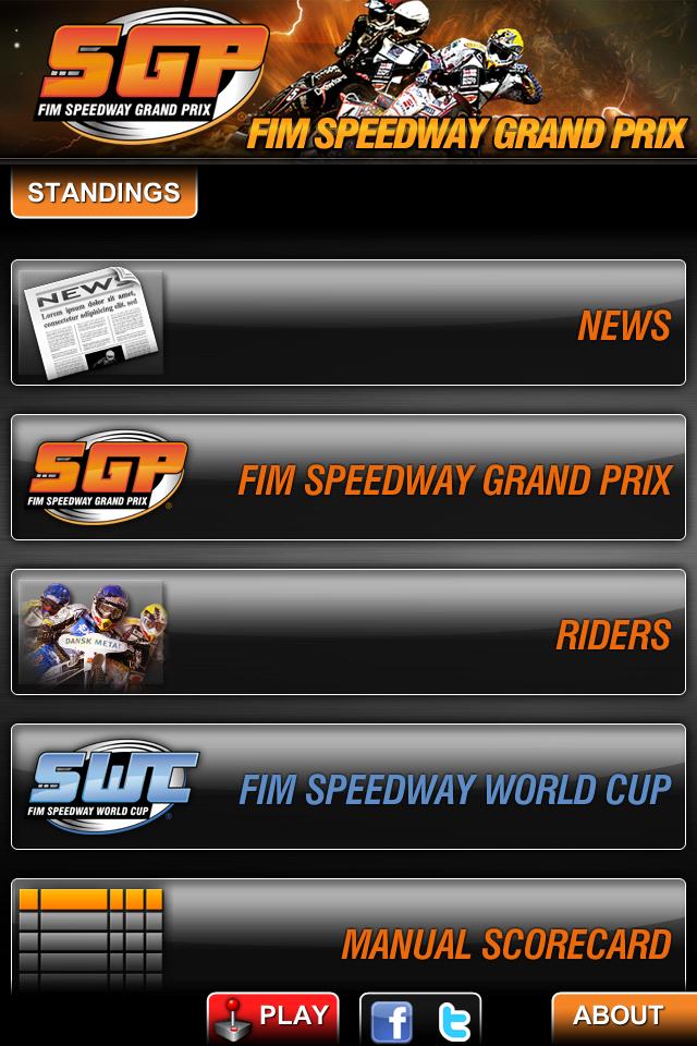 Speedway GP 2011 Official App screenshot #1