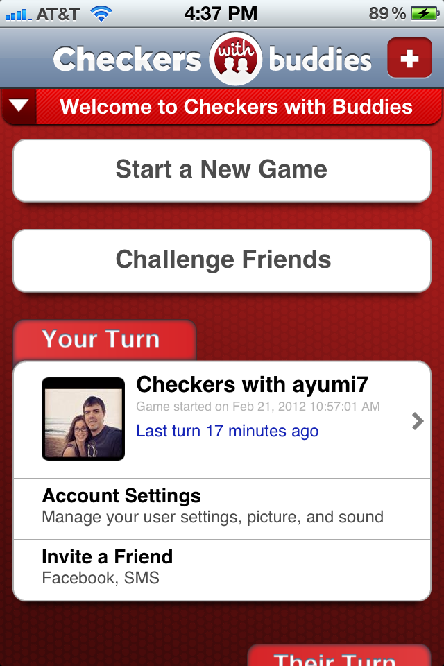 Checkers With Buddies Free screenshot #1