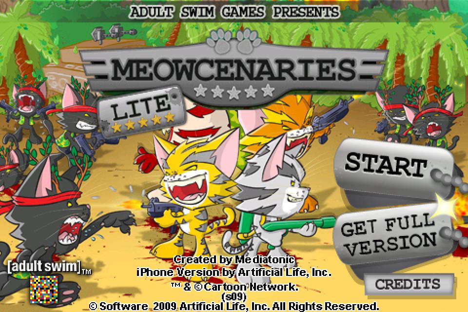 Meowcenaries Lite screenshot #1