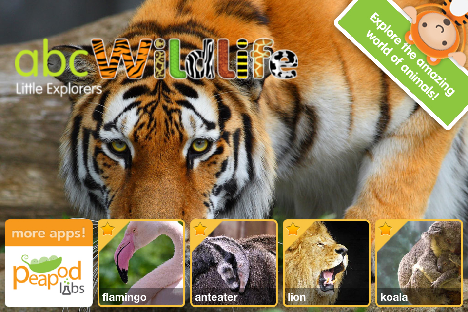 ABC Wildlife! - words about animals with pictures, sounds and videos for kids screenshot 1