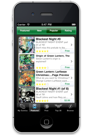 Green Lantern Comics screenshot 4