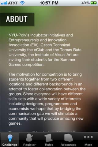 App Challenge NYU Poly - náhled