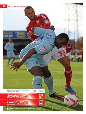 COYR - The Official Matchday Programmes of Swindon Town FC screenshot 8