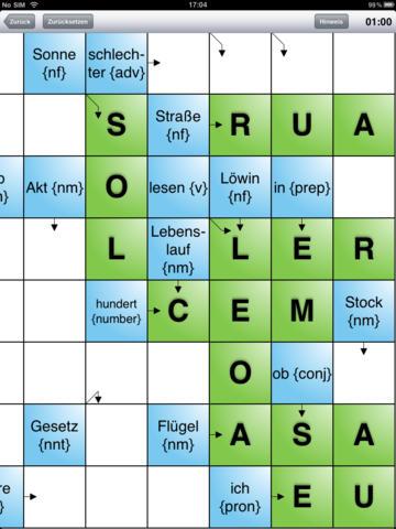 Brasilianisches Portugiesisch lernen mit Kreuzw... screenshot 6