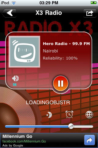 X3 Kenya Radio screenshot 1
