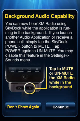 XM SkyDock screenshot 2