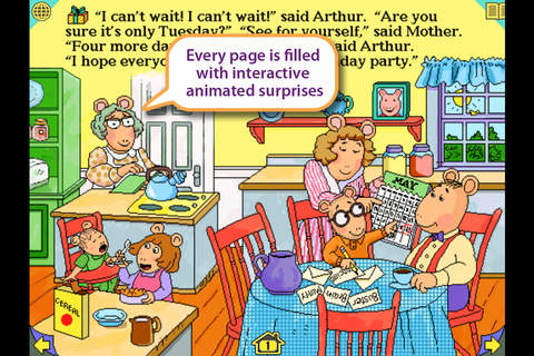 Arthur's Birthday - Wanderful interactive storyboo - náhled
