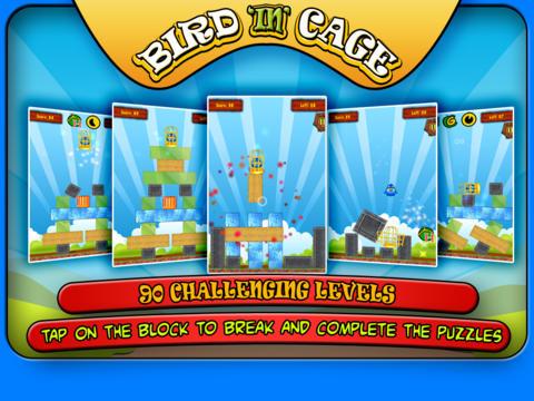 Bird In Cage HD: 90 Levels Pack screenshot 2