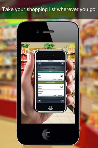 Easy Supermarket Checklist Lite screenshot 1