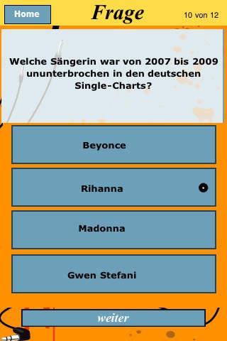 Pop Quiz - Wie gut kennst du die Charts und Musik Stars? screenshot 4