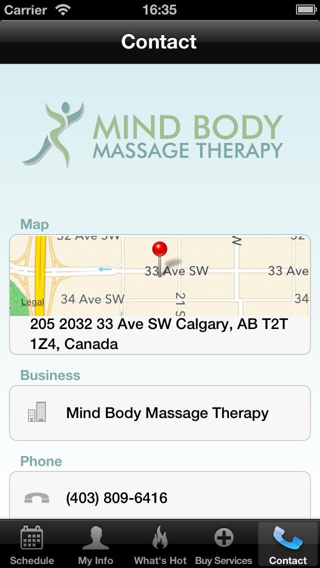 Mind Body Massage Therapy screenshot #5