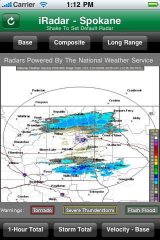 iRadar Spokane screenshot 1
