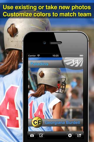 Softball Card Maker Pro - náhled