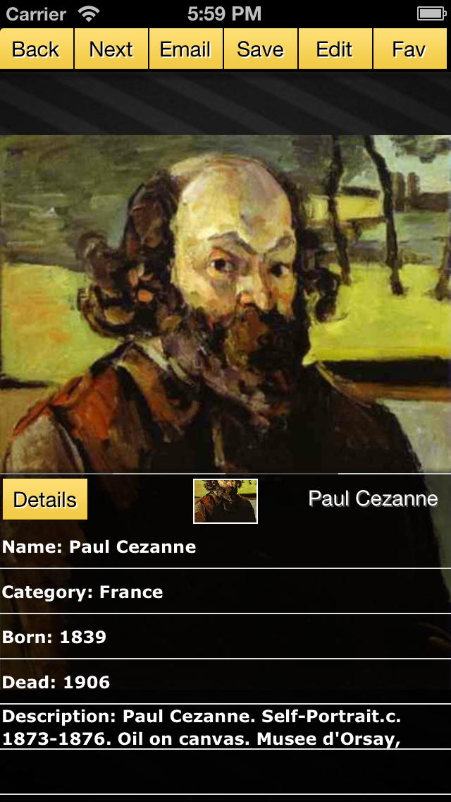 Paul Cezanne Gallery screenshot 2