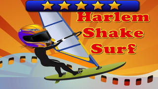 Harlem Shake Surf - fly, jump and dance in the turbo chase racing adventure with   the amazon girl surfer PRO screenshot 1