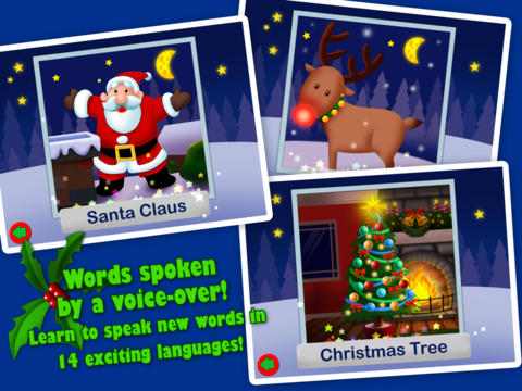 Christmas Jigsaw Puzzles 123 for iPad - Fun Learning Game for Kids screenshot 3