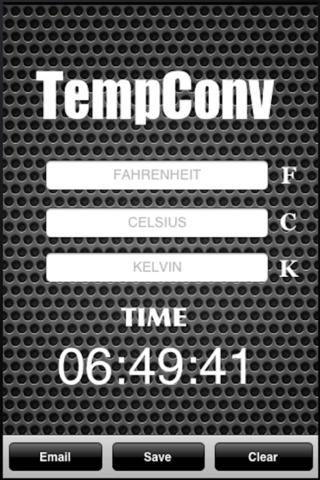 TempConv screenshot 1