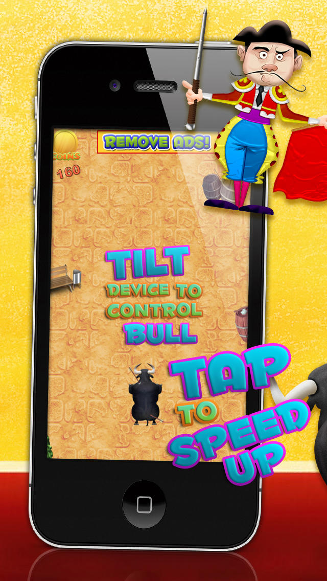 Bulls Running with Revenge LITE - FREE Game! screenshot 1