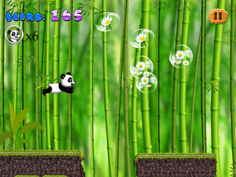 Panda Run In The Jungle Free - Can You Hop To The  - náhled
