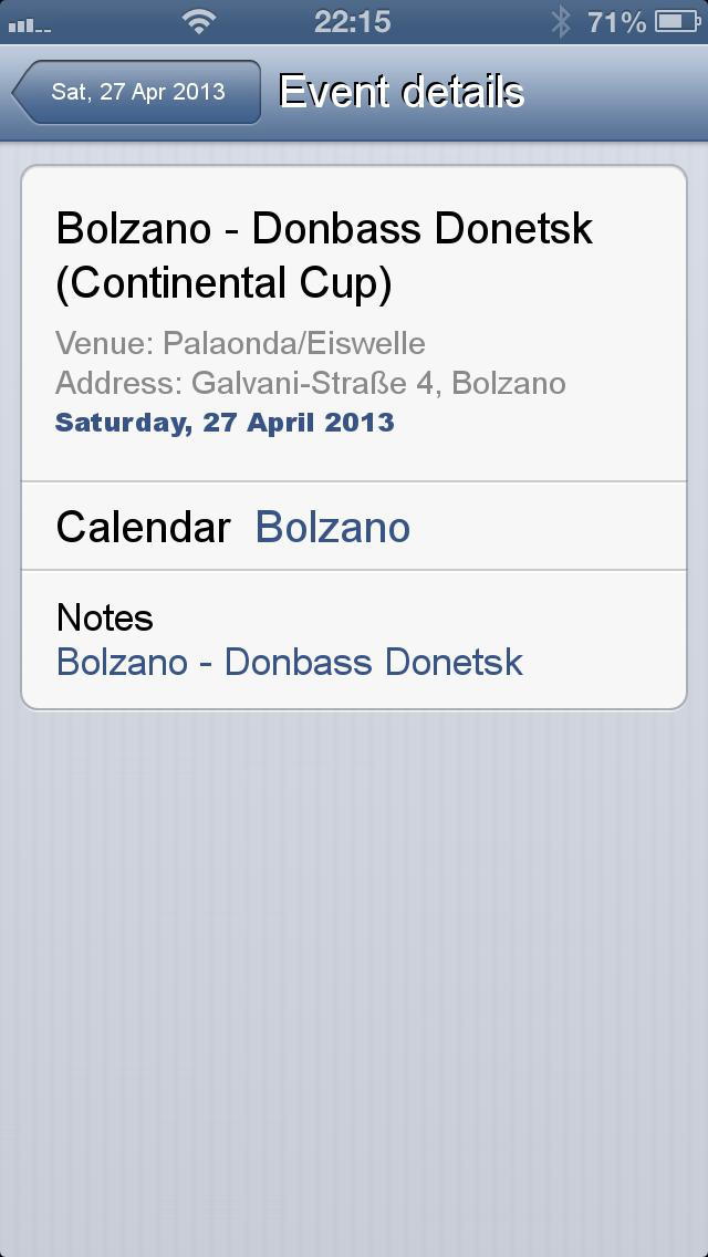 Fixtures for Continental Cup screenshot 5