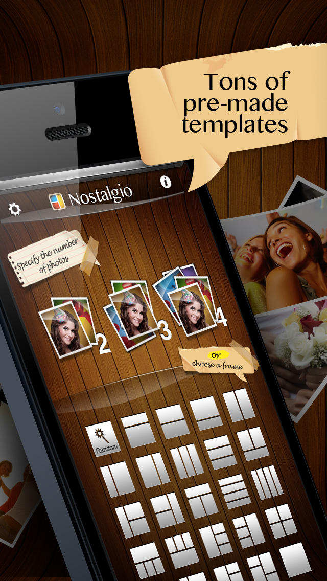 Nostalgio - Photo Collage Maker, Picture Editor, Pic Frames & Borders for Images screenshot 2