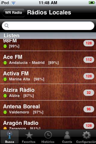 WR Spain Radios screenshot 2
