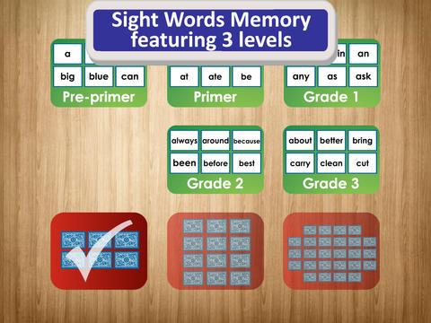 Sight Words Match for Educators and Speech Languag - náhled