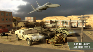 3D Trucker Simulator Free - Army Tank, Truck and Plane Parking Game screenshot 1