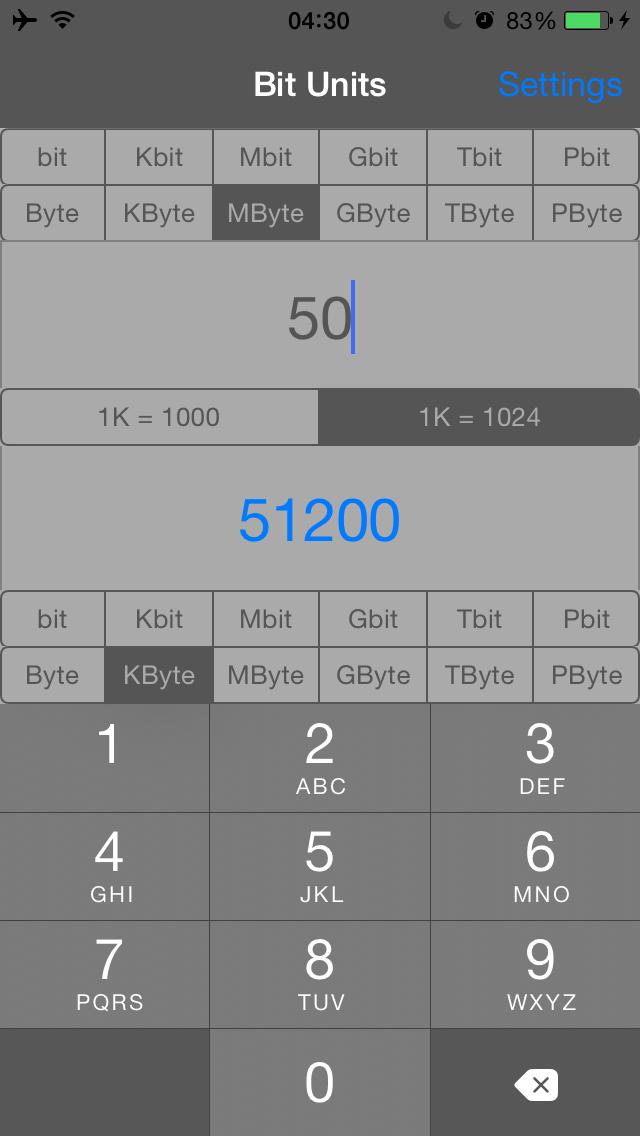 Bit Units screenshot 2