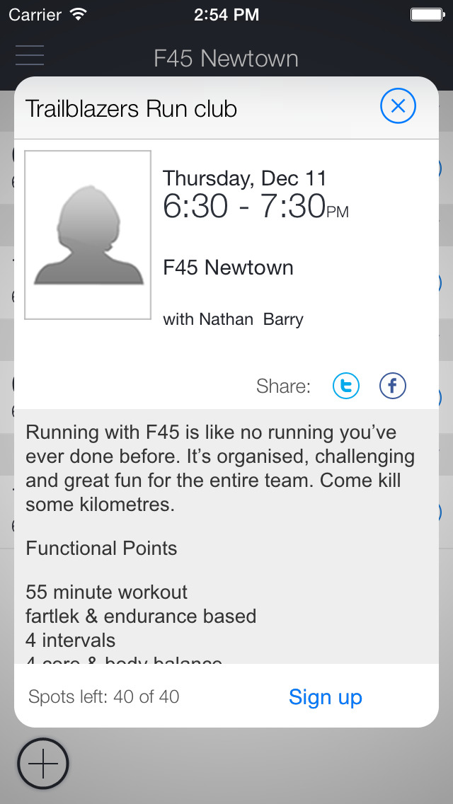 F45 Training Newtown screenshot 2