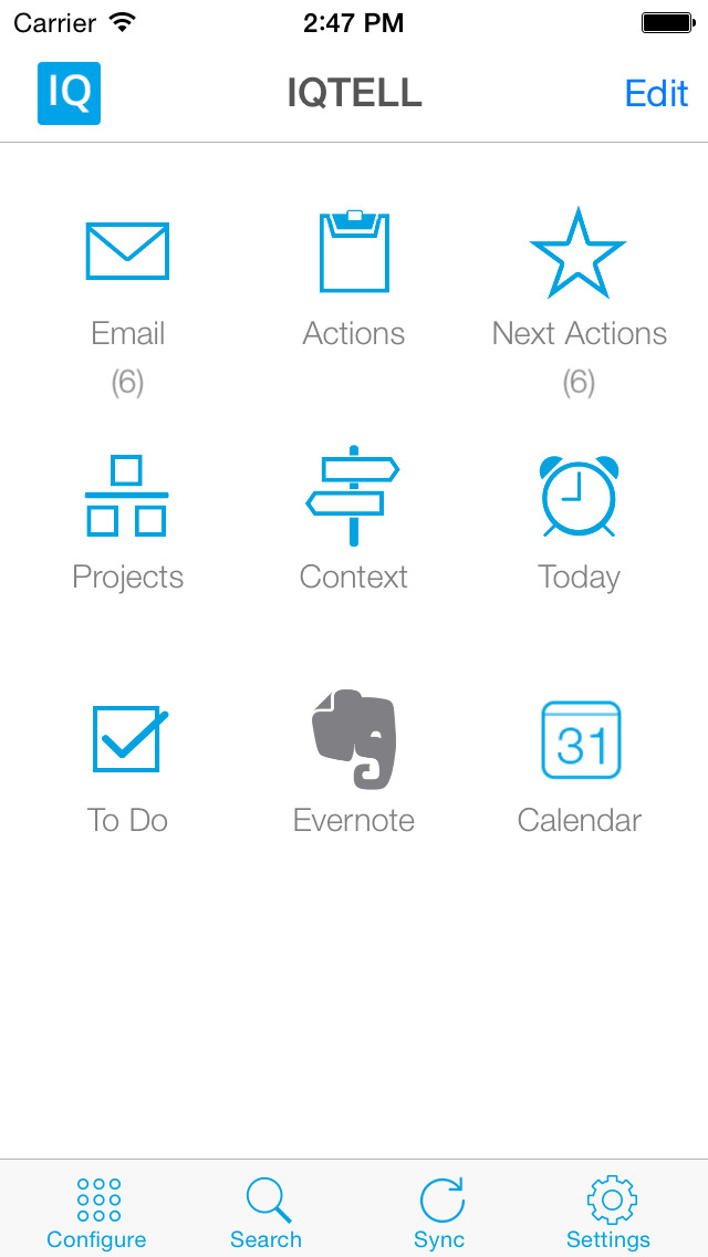 IQTell, Email + Task Management in One Place GTD® screenshot 1