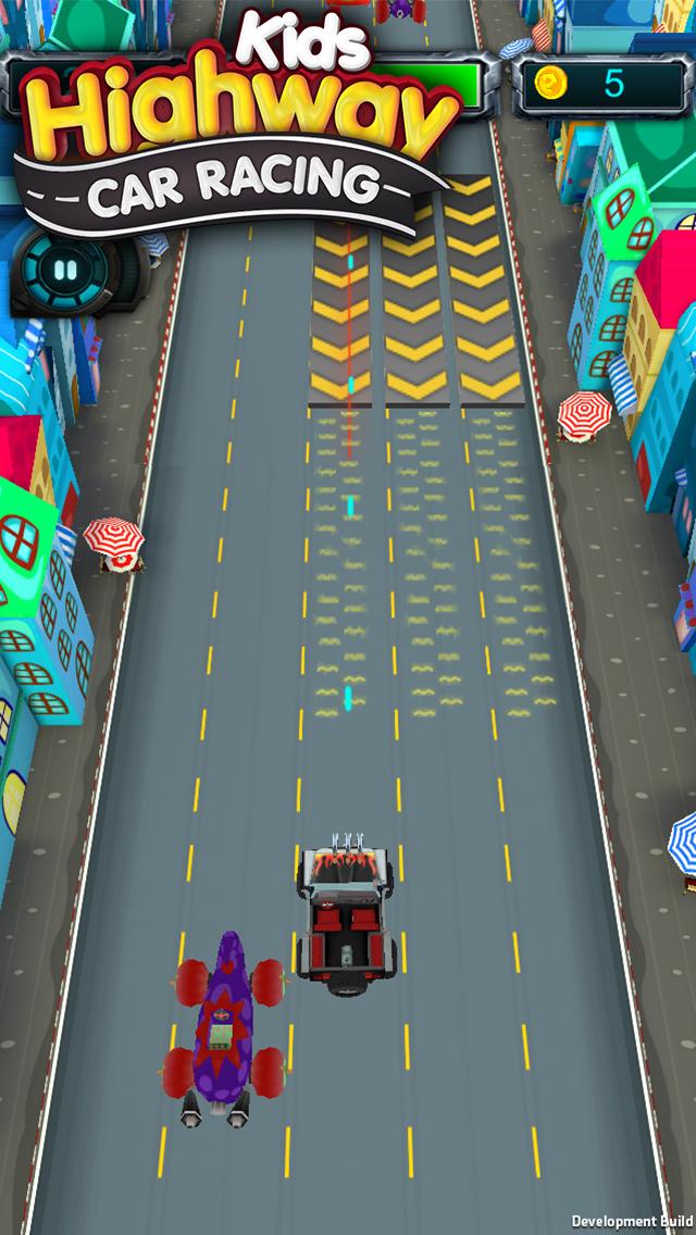 Kids Highway Car Racing screenshot 2