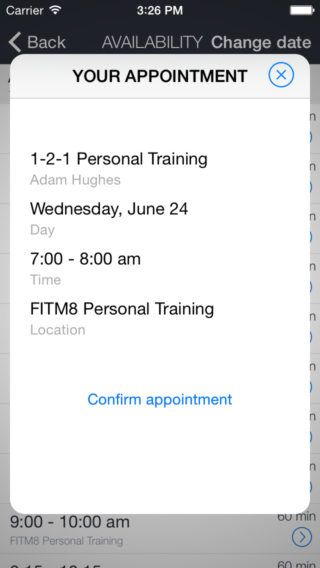 APPM8 FITM8 Personal Training screenshot 3