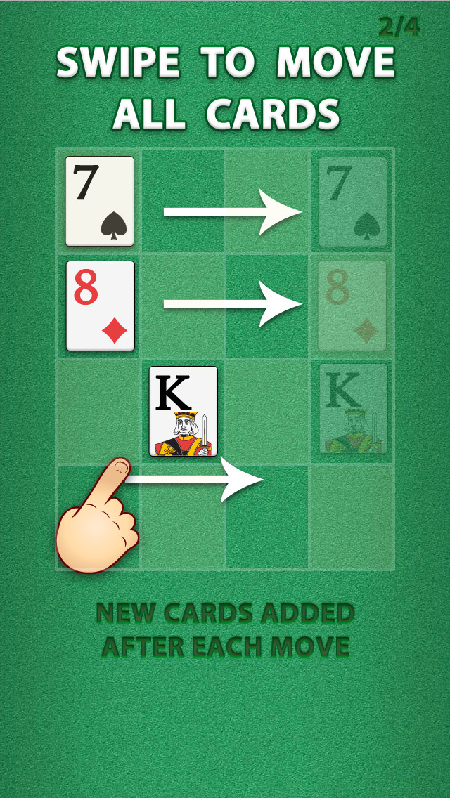 2048 Ace the Cards Puzzle screenshot 2