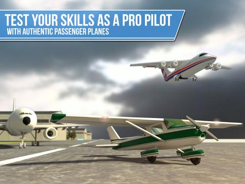 Plane Simulator PRO - landing, parking and take-off maneuvers - real airport SIM screenshot 6
