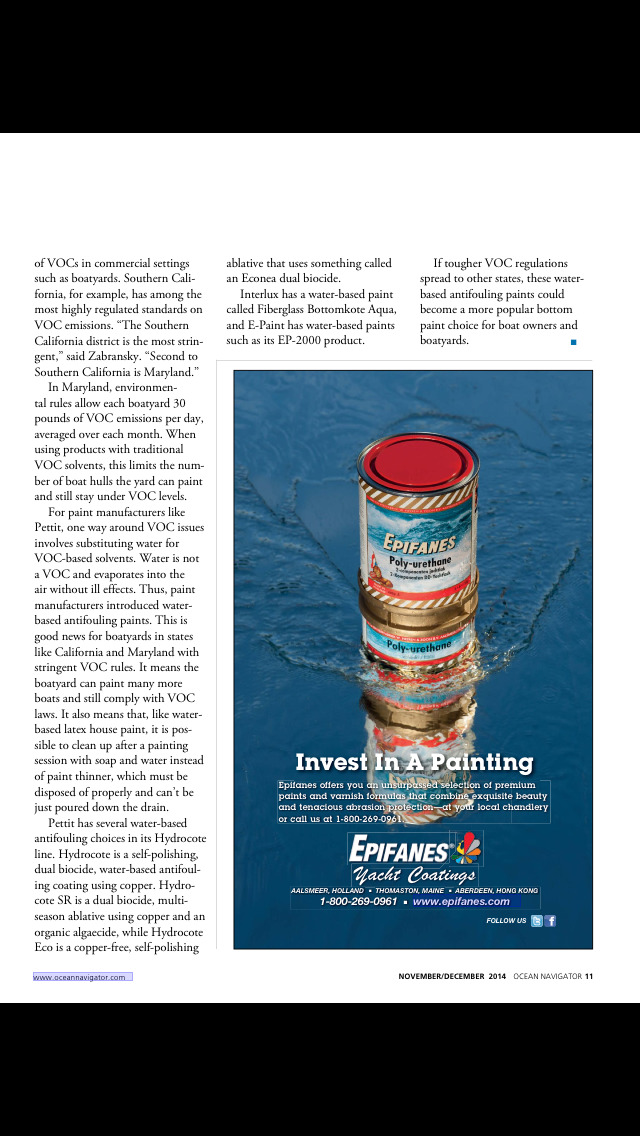 Ocean Navigator Magazine screenshot 3
