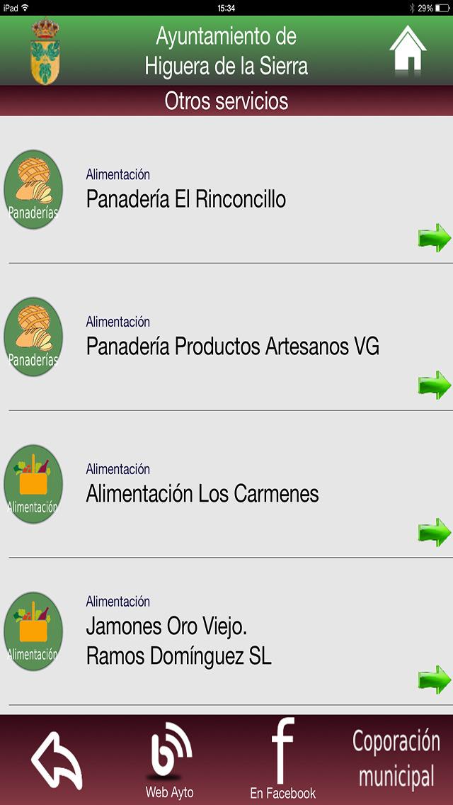 Higuera de la Sierra - Servicios e Información screenshot 5