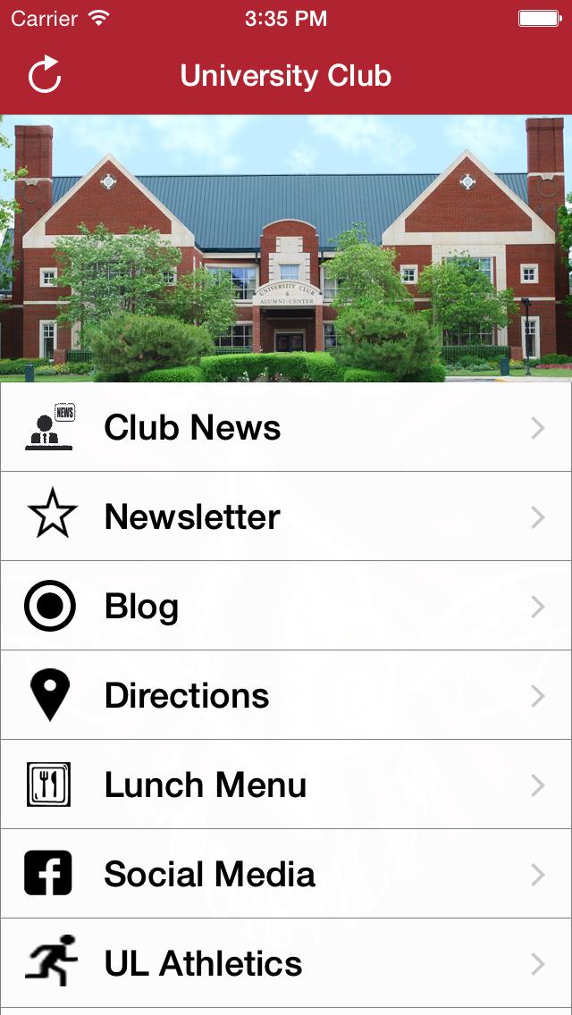 UL University Club screenshot 2
