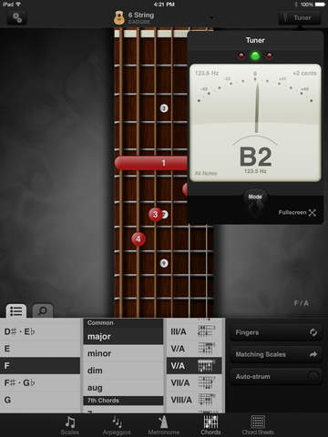 GuitarToolkit - tuner, metronome, chords & scales screenshot 7