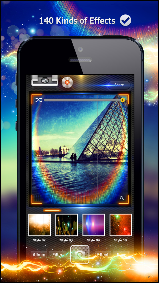 Awesome Light Camera FX Plus - The ultimate photo editor plus art image effects & filters screenshot 4