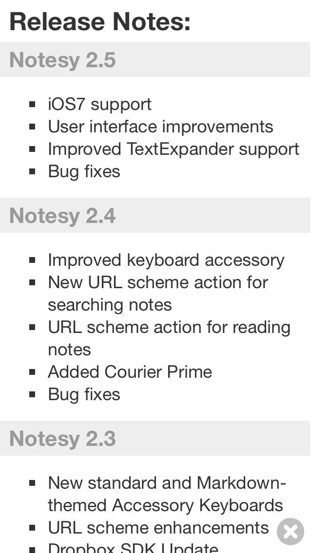 Notesy for Dropbox screenshot 3