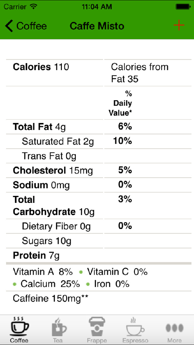 Nutrition Pro for Starbucks screenshot 2
