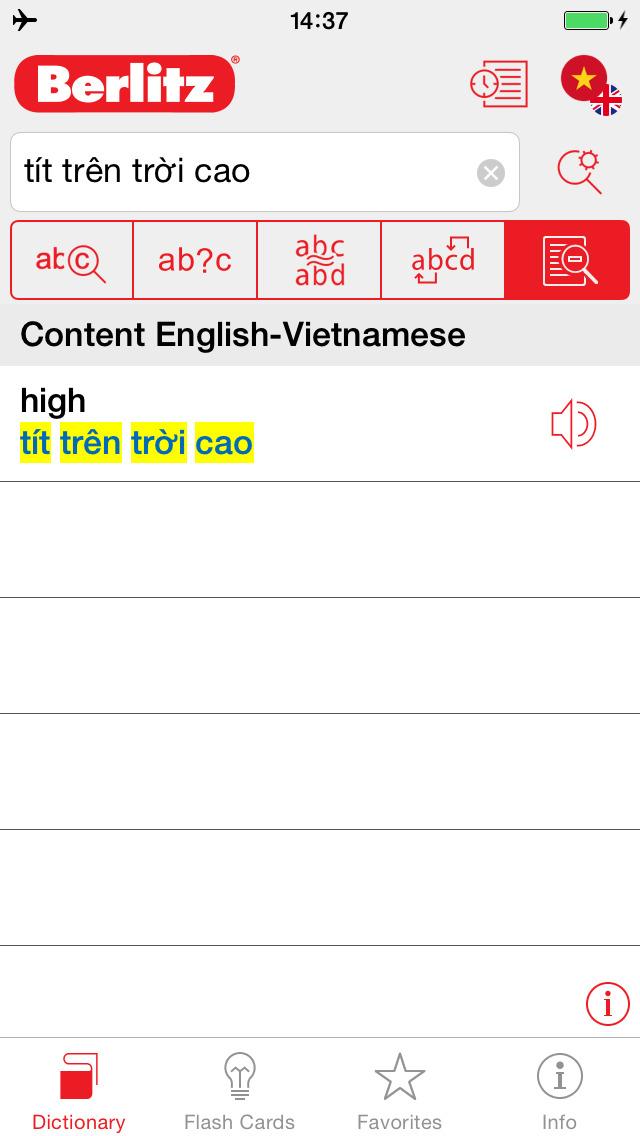 English - Vietnamese Berlitz Basic Dictionary screenshot 2