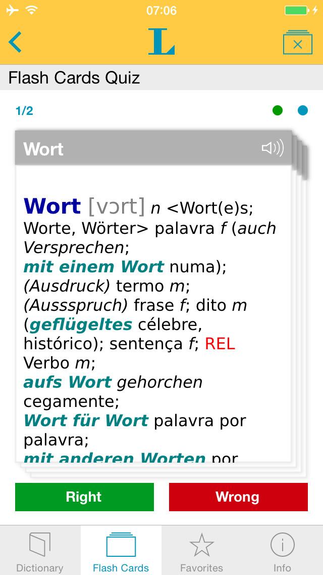 Portuguese <-> German Dictionary Standard screenshot 3