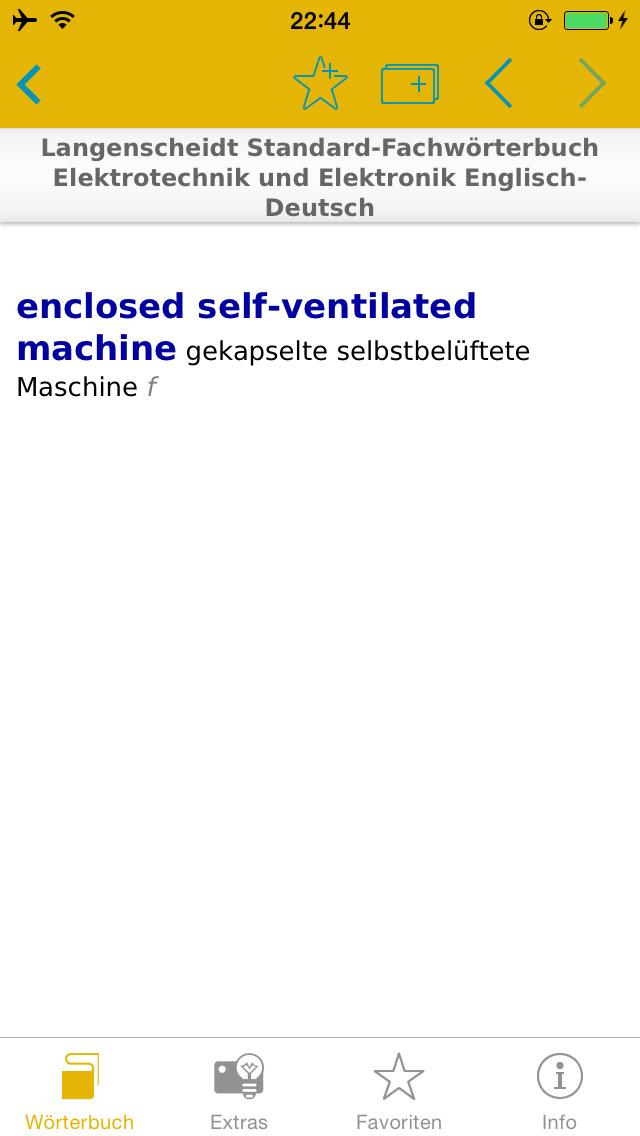 Elektrotechnik und Elektronik Englisch<->Deutsch Fachwörterbuch Standard screenshot 3