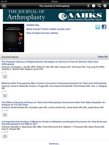 The Journal of Arthroplasty screenshot 8