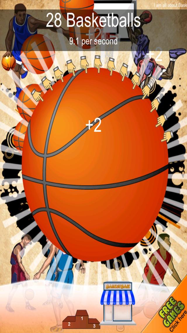 A Basketball Dribble Clicking Fun-fun Click Tap Clicker Games Free screenshot 3