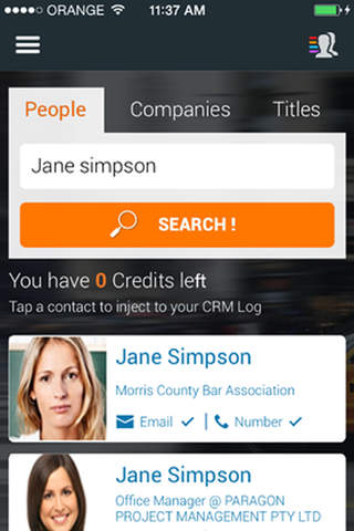 ONDiGO - People Search CRM - náhled